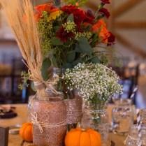 Autumn Twine Mason Jar, Fall Shabby Chic Home Decor, Rustic Fall
