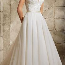 Bateau Neckline Wedding Dresses For The Chic Bride