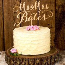 Beautiful Bridal Rustic Wedding Cake Toppers