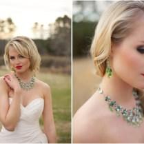 Beautiful Emerald Statement Wedding Jewelry From Aubre's Bridal