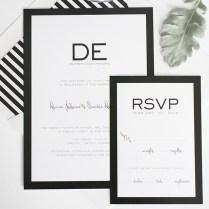Black And White Stripe Wedding Inspiration – Wedding Invitations