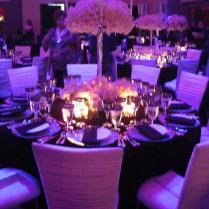 Black White Purple Wedding Decor