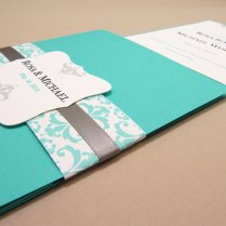 Breathtaking Tiffany Blue Wedding Invitations