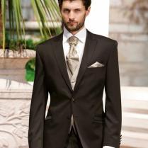 Brown Mens Wedding Tuxedos Mens Suit Peaked Lapel Wedding Suits