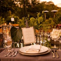 Burlap Lace Wedding Reception Decor Rustic Elegant Neutral Tones