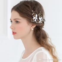 Cheap Bridal Hair Accessories Petite Enamel Leaf Bobby Pins