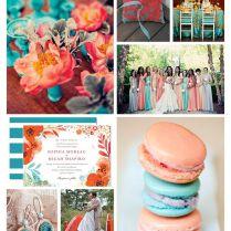 Coral And Aqua Wedding Colors