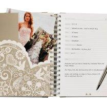 Country Burlap Twine Wedding Planner Notebook Wedding Planning