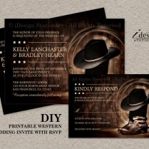 Country Western Wedding Invitation Set With By Idesignstationery