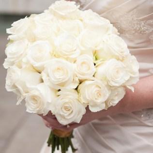 Cream Rose Bouquet Wedding
