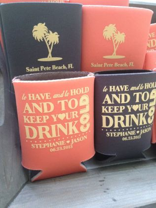Custom Koozie Wedding Favors! 45081 Nw As Low As $0 76 Each Call