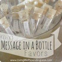 Diy Message In A Bottle Party Favors