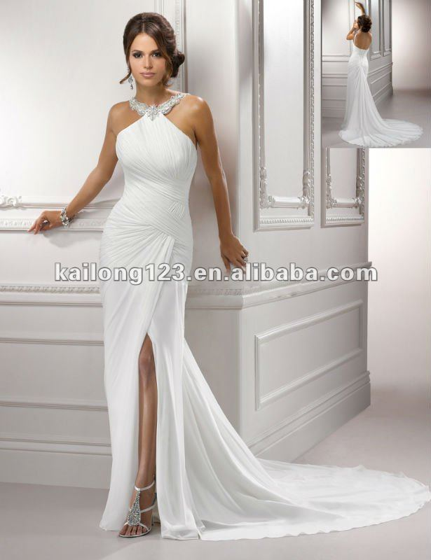 Wedding Dress With Slits Up The Leg