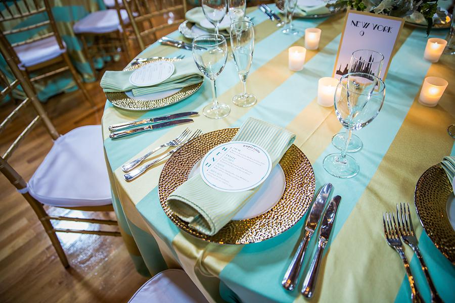 Teal Wedding Reception