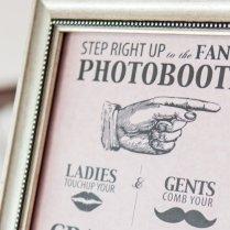 Fl Wedding Photo Booth Sign