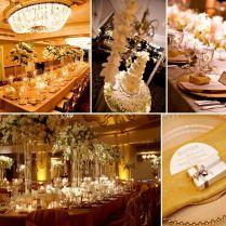 Gold Silver White Wedding Theme