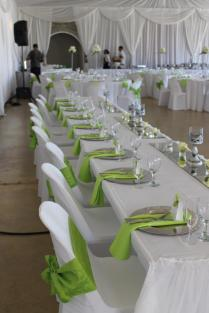 Happy Hearts, Cape Town Wedding Lime Green, White And Silver