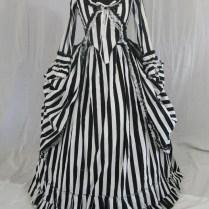 High Quality Striped Wedding Dress