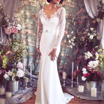 Inspired Lace And Silk Wedding Dress