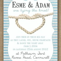 Knots And Anchors Nautical Seaside Sailing Beach Theme Wedding