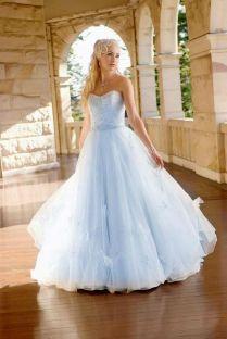 Light Blue Wedding Dresses