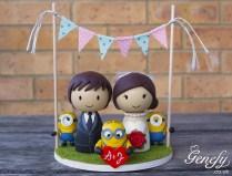 Minion Bride And Groom Cake Topper