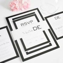 Modern Wedding Invitations In Black And White – Wedding Invitations