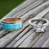 Native American Engagement Wedding Ring Sets