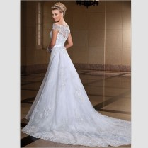 Off White Lace Wedding Dress