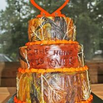 Orange Browning Logo Camouflage Wedding Cake When I Say Do