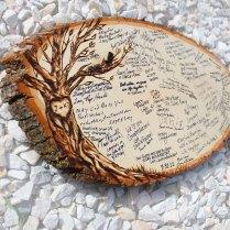 Original Design Wood Slice Rustic Theme Wedding By Jkartshop