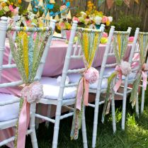 Outdoor Wedding Chair Decorations