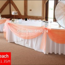 Peach Decorations Wedding