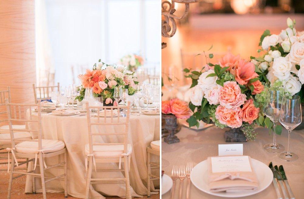 Peach Wedding Reception Decorations