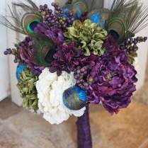 Peacock Wedding Centerpieces