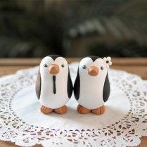 Penguin Wedding Cake Topper Small By Redlightstudio On Etsy