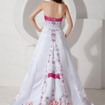 Pink White Wedding Dresses