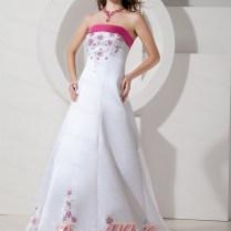 Pink White Wedding Dresses