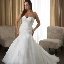Plus Size Trumpet Mermaid Wedding Dresses, Organza Trumpet Mermaid