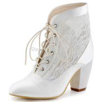 Popular Bridal Boots Ivory