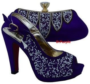 Popular Dark Purple Wedding Shoes