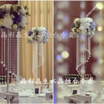 Popular Decorated Crystal Pillars For Weddings