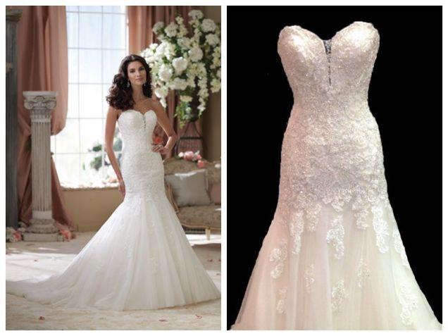 Popular Dropped Waist Wedding Dress