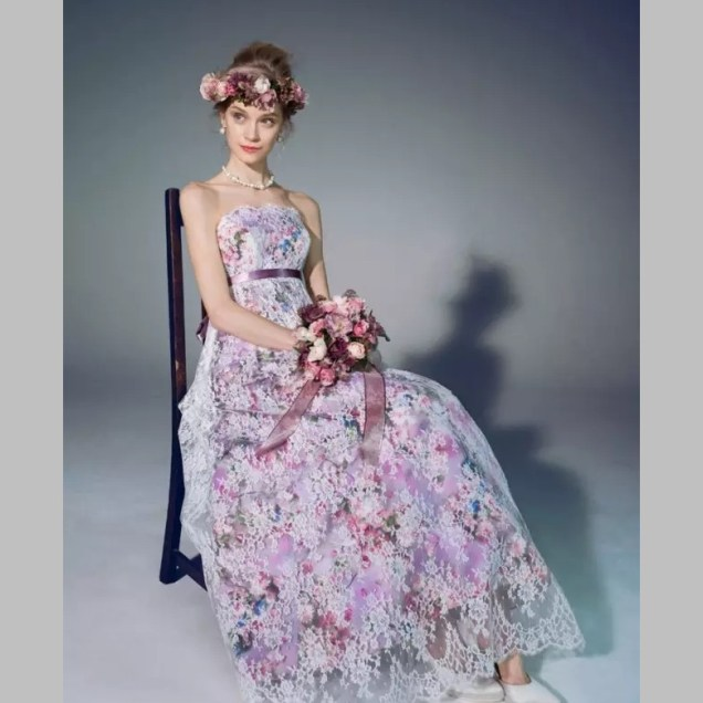 Popular Purple Lace Wedding Dresses
