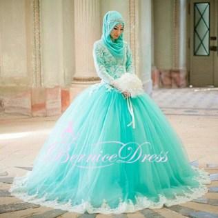 Popular Teal Wedding Dress