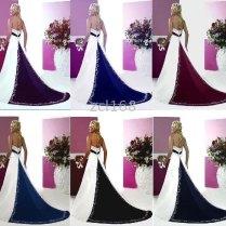 Purple And Black Wedding Dress
