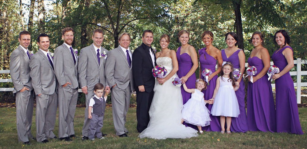 Silver And Plum Wedding Theme