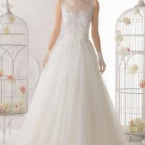 Real Wedding Sheer Back And Neckline Bridal Gown – Gorgeous