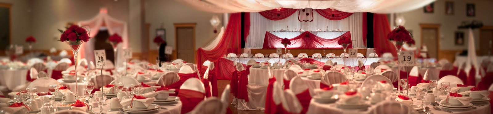 Imgenes De Red White And Silver Wedding Centerpieces
