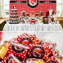 Red, Black & White Rockabilly Wedding Hostess With The Mostess®